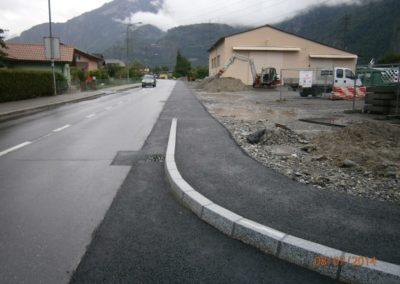 Dorénaz – Construction d'un trottoir